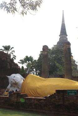 Bouddha couché - Ayutthaya - Thailande