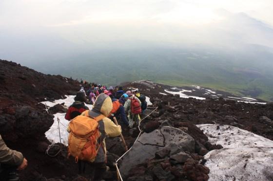 descente Fuji - Japon
