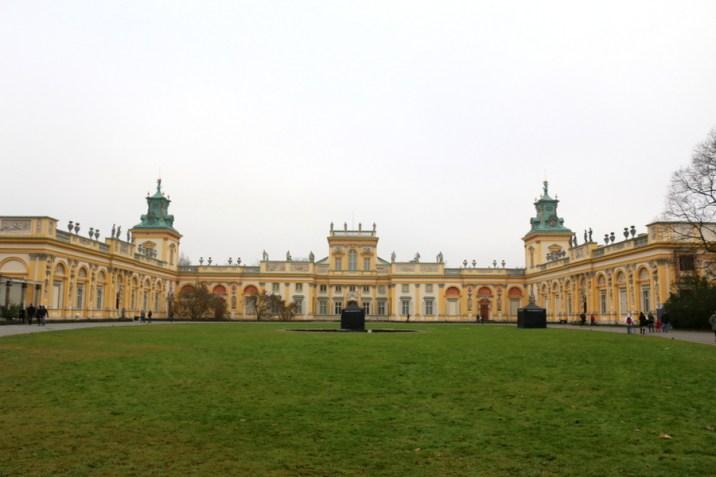 Extérieur palais Wilanow - Varsovie