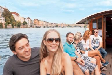 Die Basler Fähren sind beliebt Foto: Basel Tourismus)