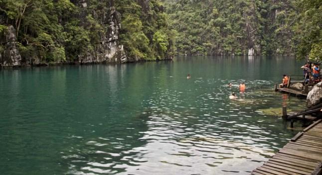 ... doch der Kayangan Lake ist gross genug für alle