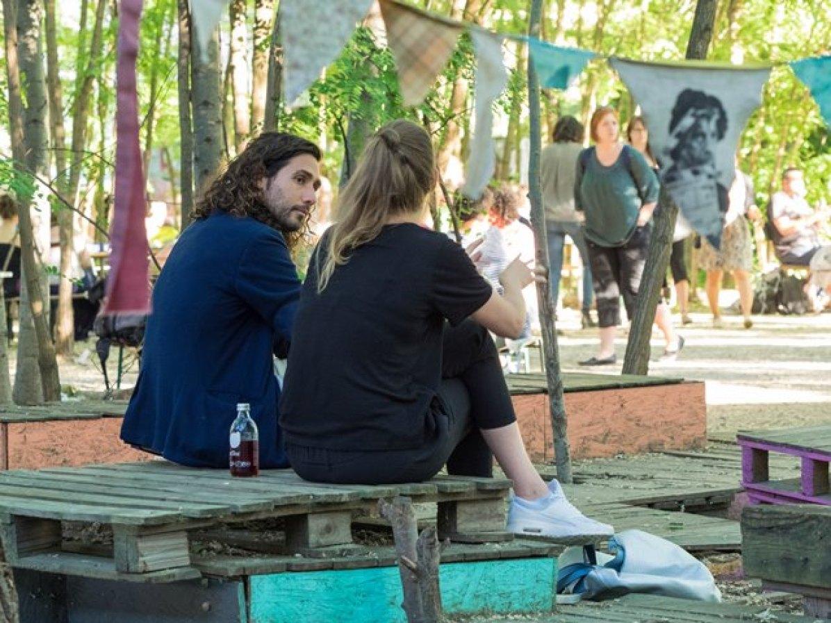 Authorin Manuela im Gespräch mit Bert