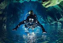 Diving in Silfra, Diving Between Two Continents