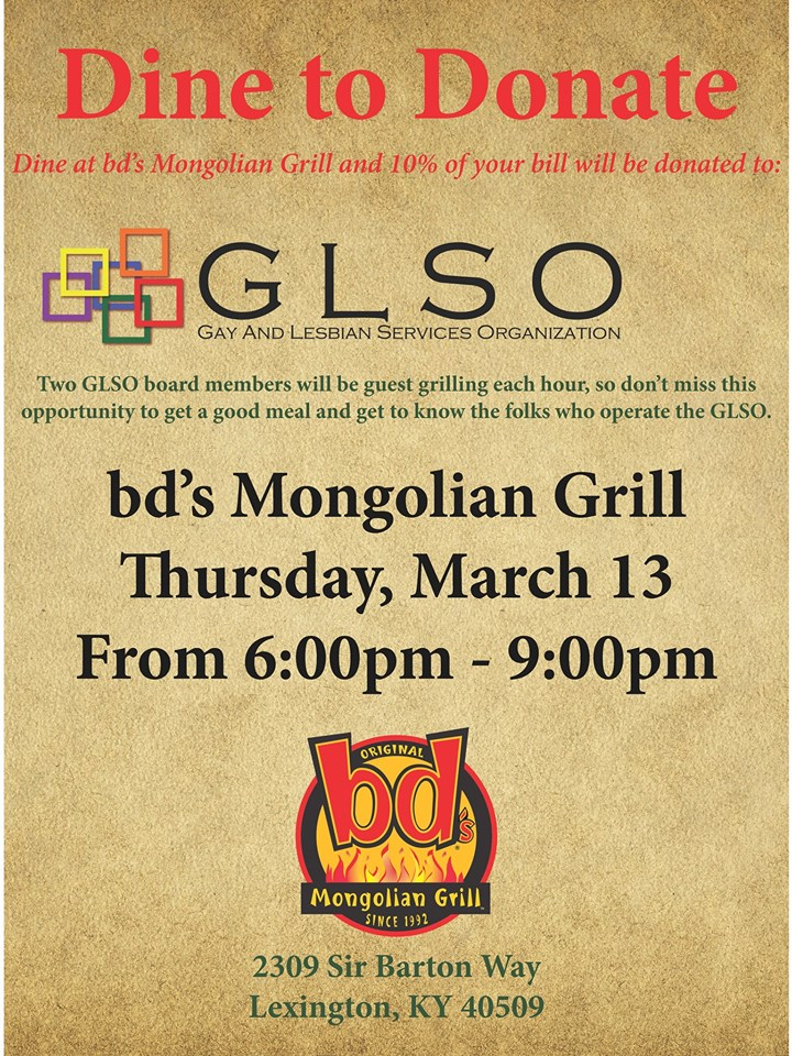 GLSO Dine to Donate BD Mongolian Grill