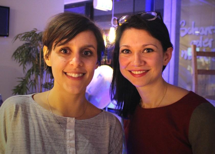 Lena Felixberger (Gründerin) & Liza Meinhof (PR) von Descape beim Klub Dialog im Bremer Universum. Foto: J.Weinhold