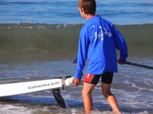 ryan maloney launching his stand up paddle board