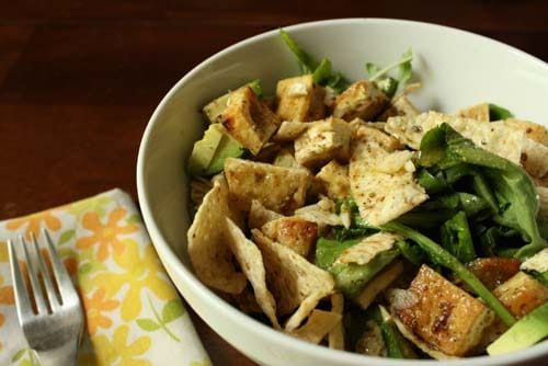 Thin strips of marinated tofu bake up into a toothsome addition to salads, sandwiches, soups, and wraps.