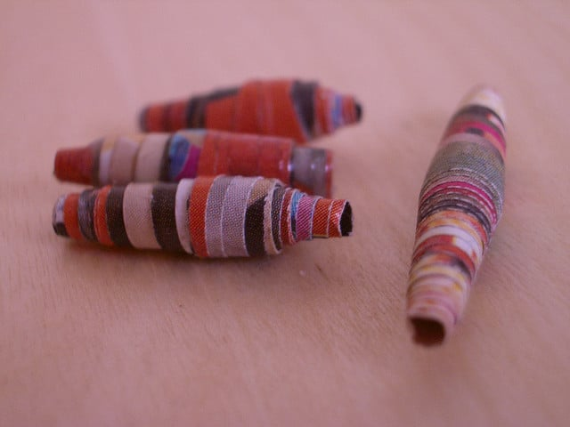 Junk Mail Paper Beads