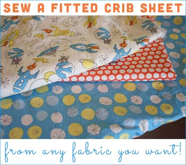 Can't find cute, organic linens for the crib? It's easy as pie to make a fitted crib sheet from whatever fabric you like!