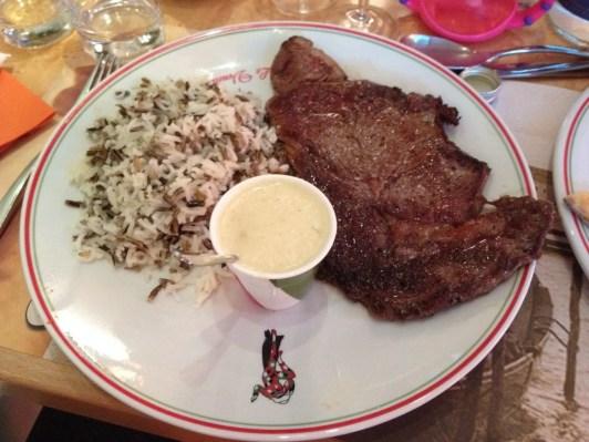 Steak and, er, wild rice