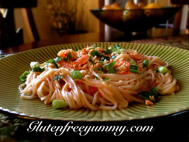 GF Peanut Thai Noodles