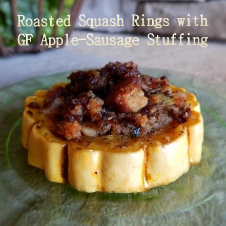 Delicata Stuffed Squash Rings