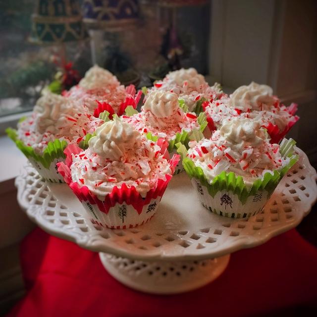 GF-DF Christmas Candy Cane Cupcakes