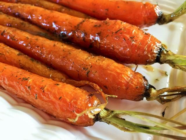 Cumin & Dill Maple-glazed Baked Carrots