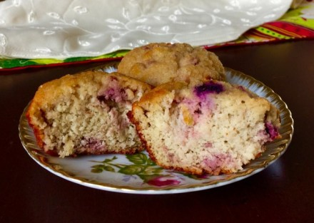 Grain-free Triple Berry Muffins