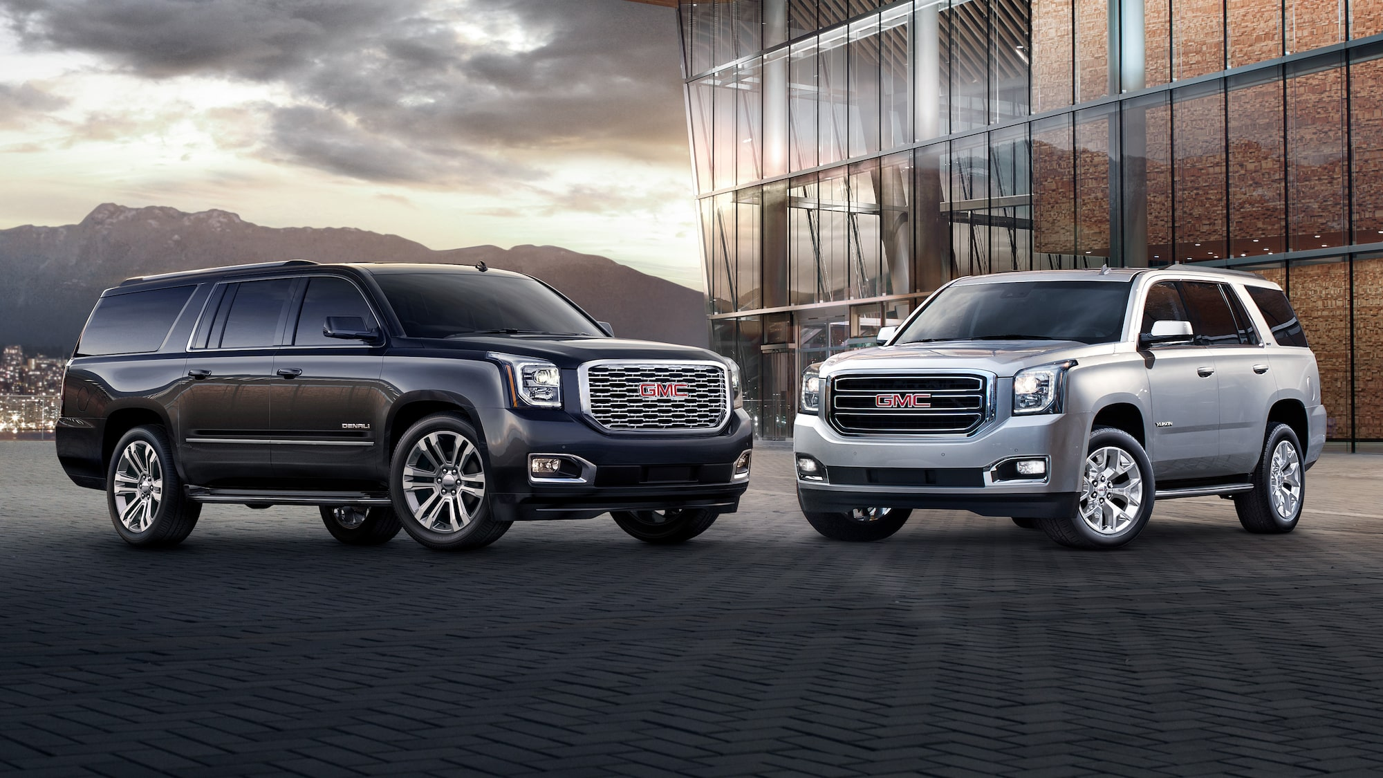 Small  Mid Size   Full Size SUVs   GMC Image showing the 2018 GMC Yukon full size SUV