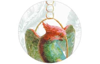 Elegante Vogel Tapete Birds on a string