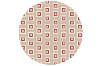Beige Modern living - Little Square Tapete angepasst an Schöner Wohnen Trendfarbe Melone