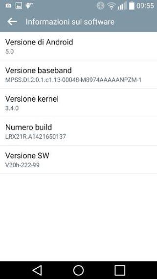 LG G3 mit Lollipop Mini-Update