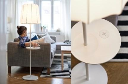 IKEA Wireless Qi Möbel