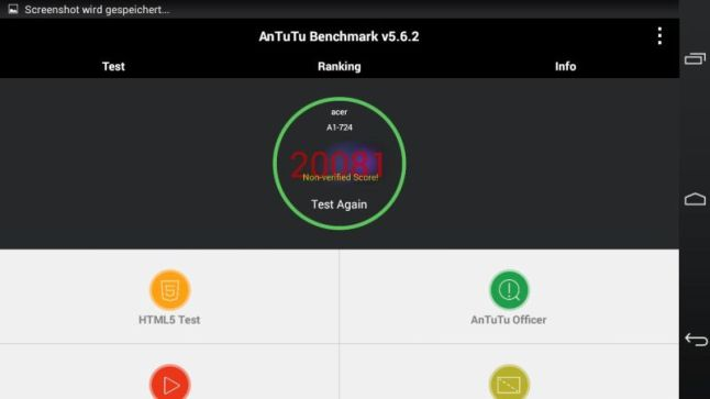 Acer Iconia Talk S Test