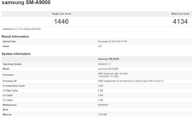 Samsung Galaxy A9 Leak