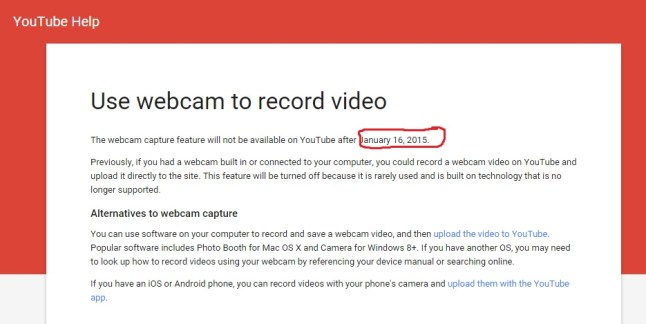 YouTube Webcam-AUfzeichnung