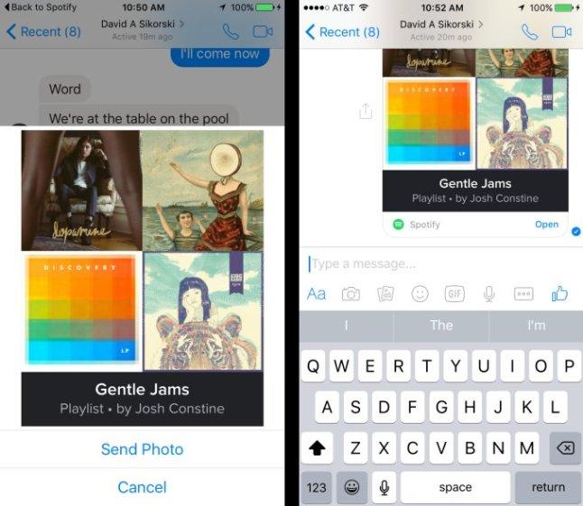Facebook Messenger mit Spotify-Integration