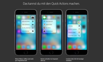 Apple 3D Touch Quick Actions