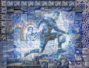 Mosaic artist pays tribute to C Ronaldo