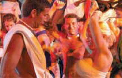 nude beach hedonism toga party