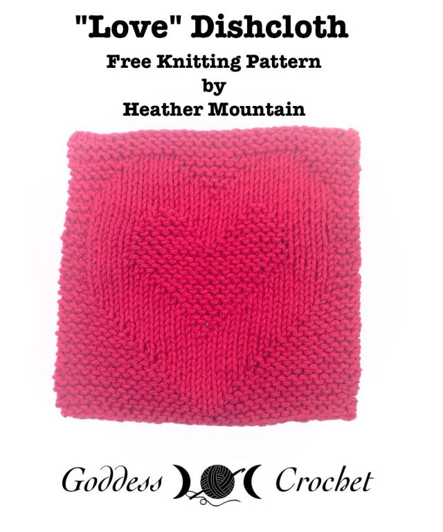 Knitting Patterns Love Knitting : Peace, Love, and Happiness Dishcloth Set   Free Knitting Patterns Review   Go...
