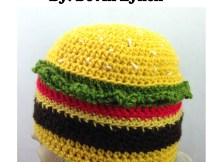 Cheeseburger Hat - Free Crochet Pattern