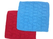 """Triangles Dishcloth"" - Free Knitting Pattern"