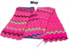 Crochet Mood Scarf 2016 - May