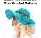 Raffia Wide Brim Hat - Free Crochet Pattern