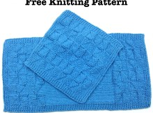 Triangles Kitchen Set - Free Knitting Patterns