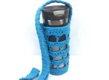 Trendy Triangles Water Bottle Holder - Free Crochet Pattern
