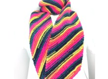 Bias Stripes Scarf - Free Knitting Pattern