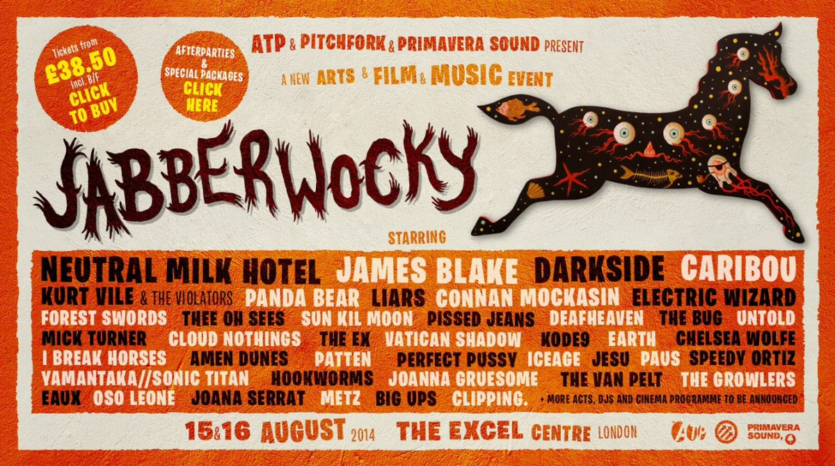 Preview: Jabberwocky Festival, 15th -16th August 2014, Excel Centre, London