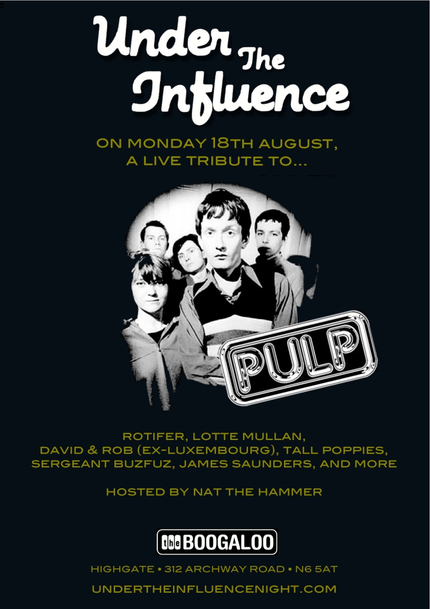 Under The Influence: PULP Special announced for August