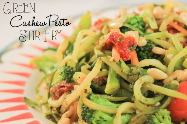 Green Cashew Pesto Stir Fry Recipe- God Save the Quinoa