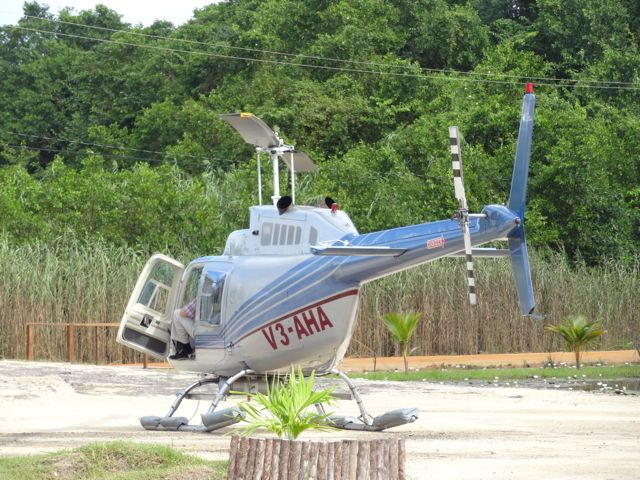 chopper ride over the blue hole in Belize