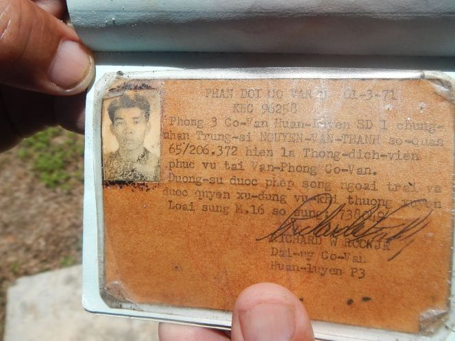 Vietnames war ventral Bill id card