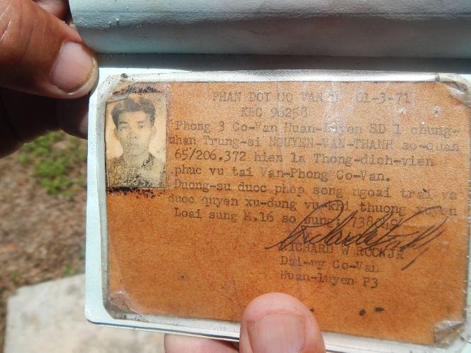Vietnames war ventral Bill id card