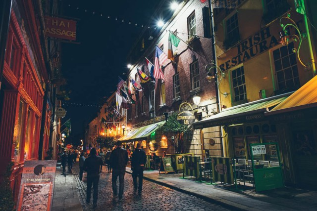 Temple Bar district in Dublin, Ireland