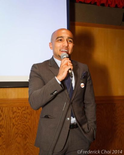 sugam pokhrel speaks at Go Eat Give Destination Nepal