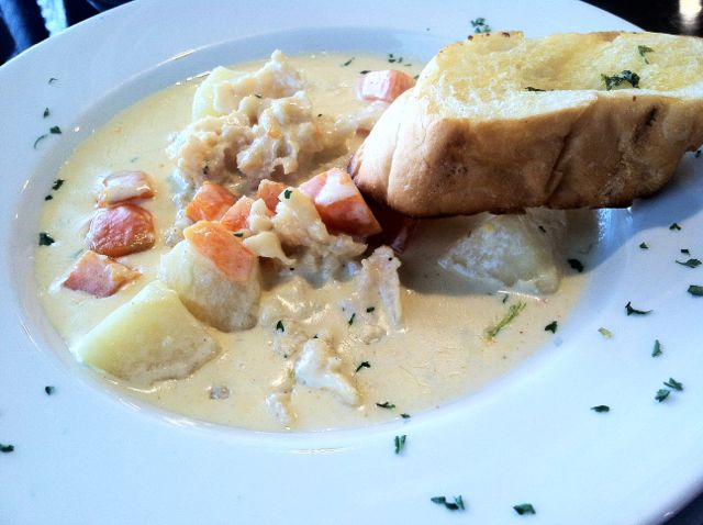 creamy conch chowder TCI