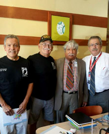 "From left to right: Joe Granados, Frank Villareall and Dr. Garay, ""Lucky"" Lucianno at Gathering of Eagles on Sept 3, 2014"