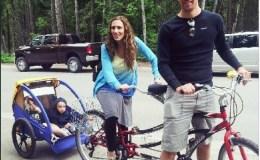 Glacier Outfitter Tandem bike and child trailer rental Glacier National Park